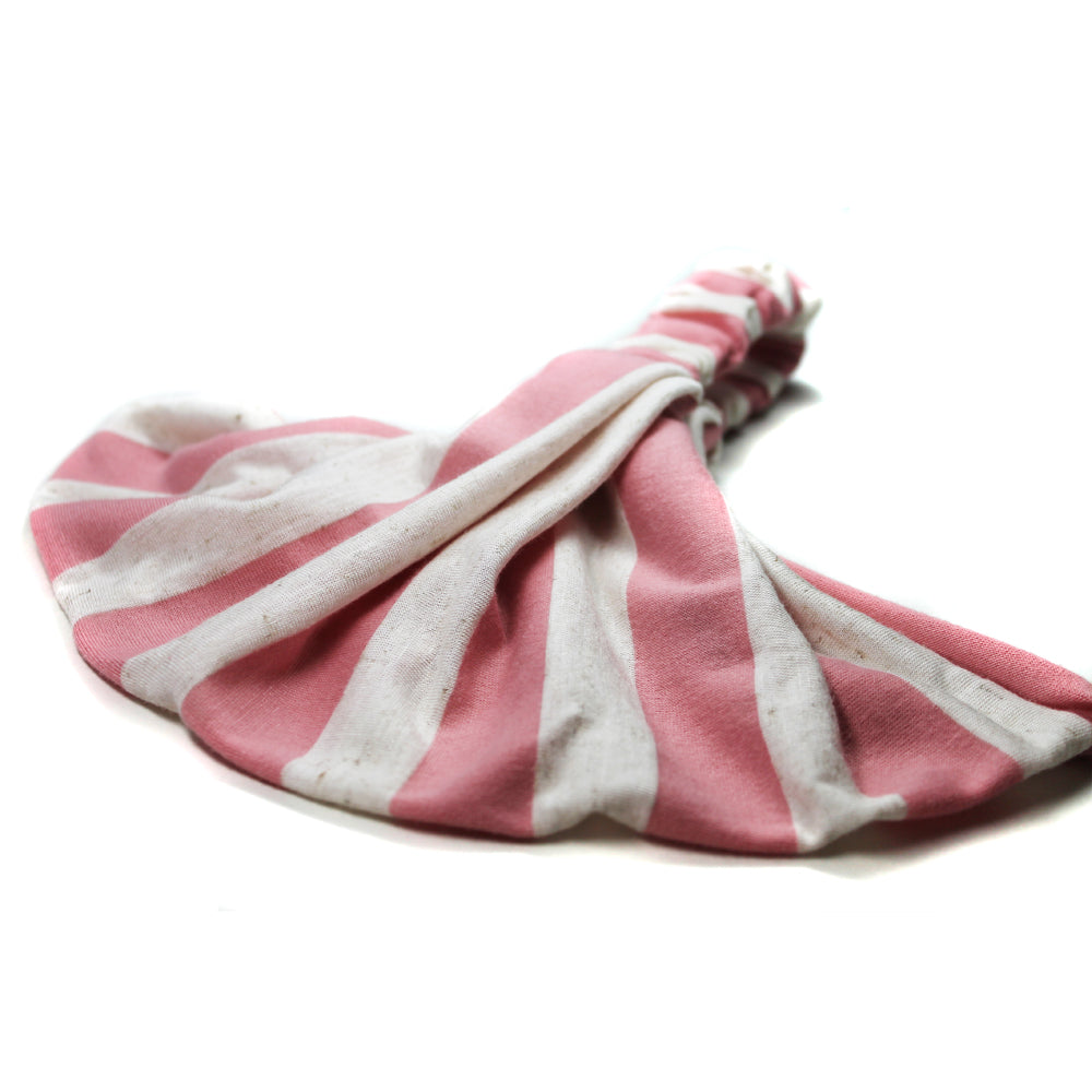 Pink Stripe Extra Wide Headband