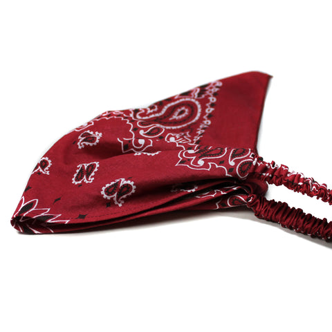 Burgundy Bandana Kerchief Headband