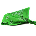 Lime Green Bandana Kerchief Headband