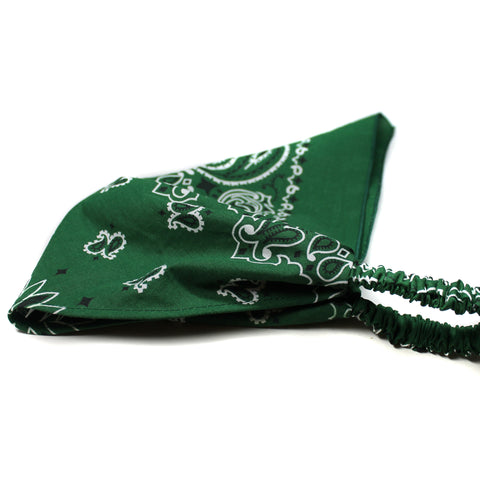 Hunter Green Bandana Kerchief Headband