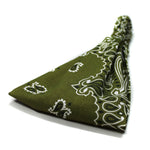 Olive Green Bandana Wide Headband