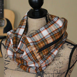 Brown & Ivory Flannel Pocket Scarf