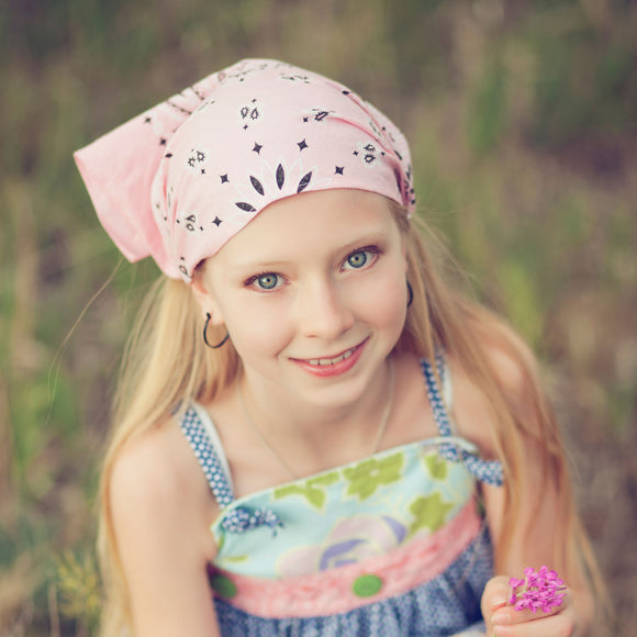 Soft Pink Bandana Kerchief Headband