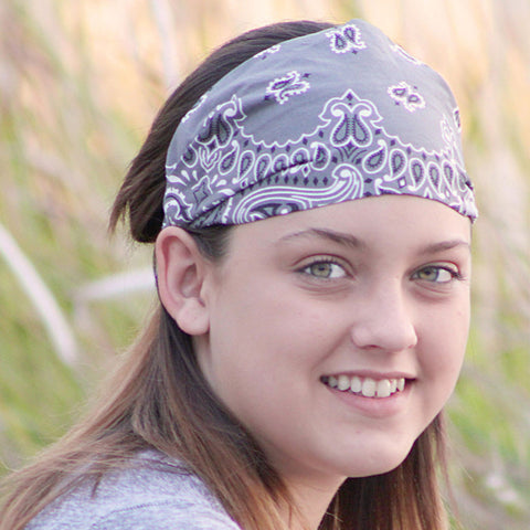 Charcoal Gray Bandana Headwrap