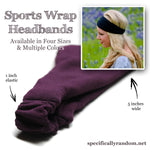 Bright Pink Sports Wrap Headband, Double Brushed Knit