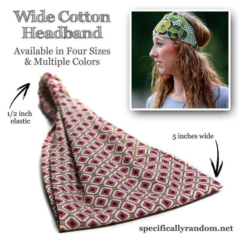 Brown Bandana Wide Headband