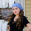 Chambray Blue Bandana Extra Wide Headband