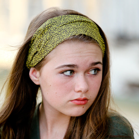Olive Green Wide Headband