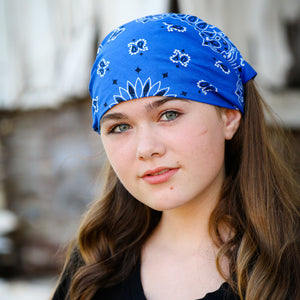 Royal Blue Bandana Kerchief Headband