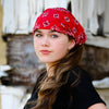 Red Bandana Extra Wide Headband