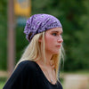 Plum Purple Bandana Extra Wide Headband
