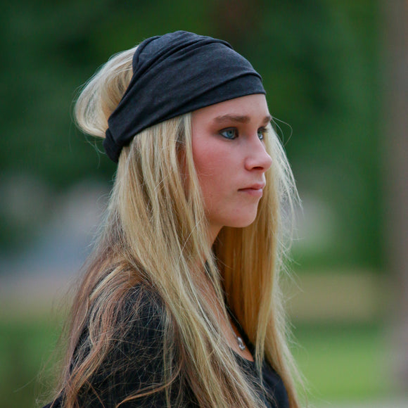 Charcoal Gray Extra Wide Knit Headband