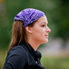 Purple Bandana Extra Wide Headband