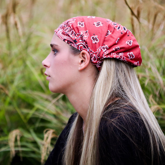 Terracotta Bandana Extra Wide Headband