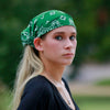 Hunter Green Bandana Extra Wide Headband