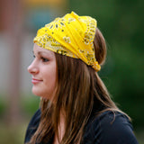 Yellow Bandana Extra Wide Headband
