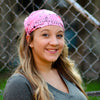 Strawberry Pink Bandana Extra Wide Headband