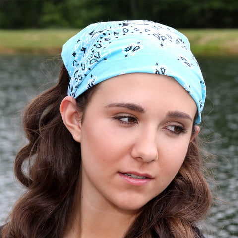 Light Blue Bandana Kerchief