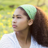 Green Print Wide Headband