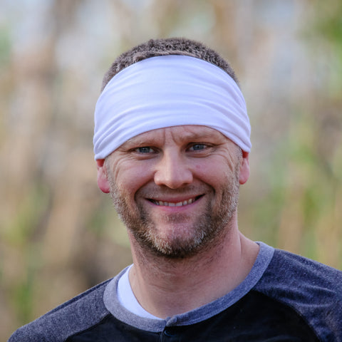 Men's White Headband