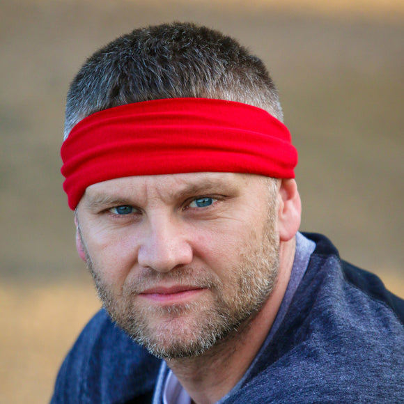 men's Red Headband