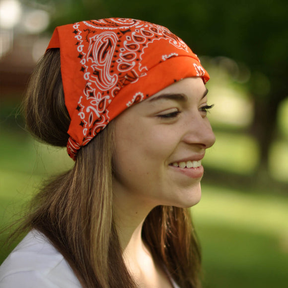 Orange Kerchief Headband
