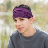 Men's Purple Knit Headband