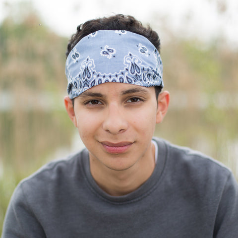 Silver Gray Men's Headband