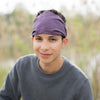 Eggplant Purple Solid Headscarf