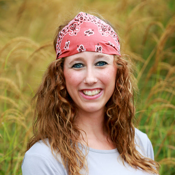 Terracotta Bandana Wide Headband