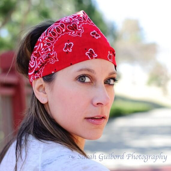 Red Bandana Wide Headband Womens Bandanna Headwrap – Specifically Random c3a39b079b5
