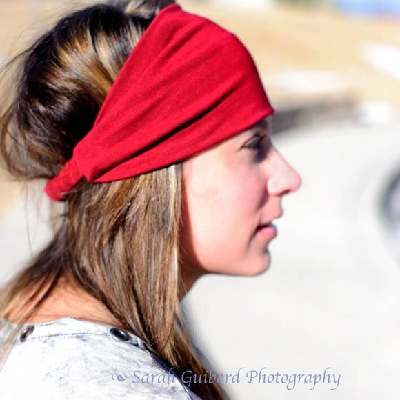 Red Knit Headband