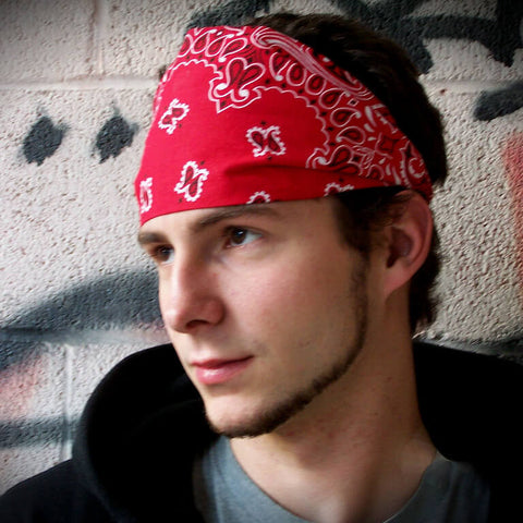 Men's Red Bandana