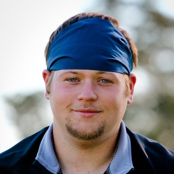Men's Navy Blue Headband