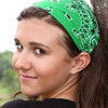 Kelly Green Bandana Headband