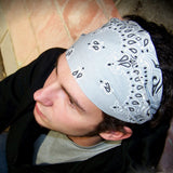 Men's Gray Bandana