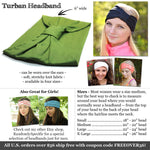 Sage Green Turban Headband, Double Brushed Knit