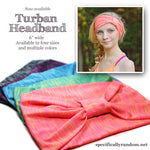 Pink Turban Headband, Quick Dry Slub Stripe