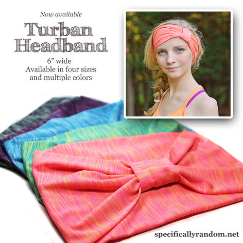 Pink Stripe, Knit Turban Headband