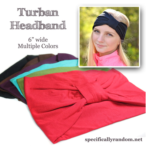 White Turban Headband