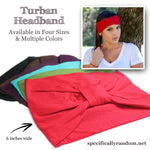 Dark Red Turban Headband
