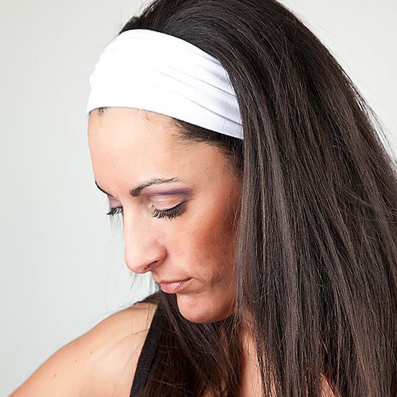 White Yoga Headband