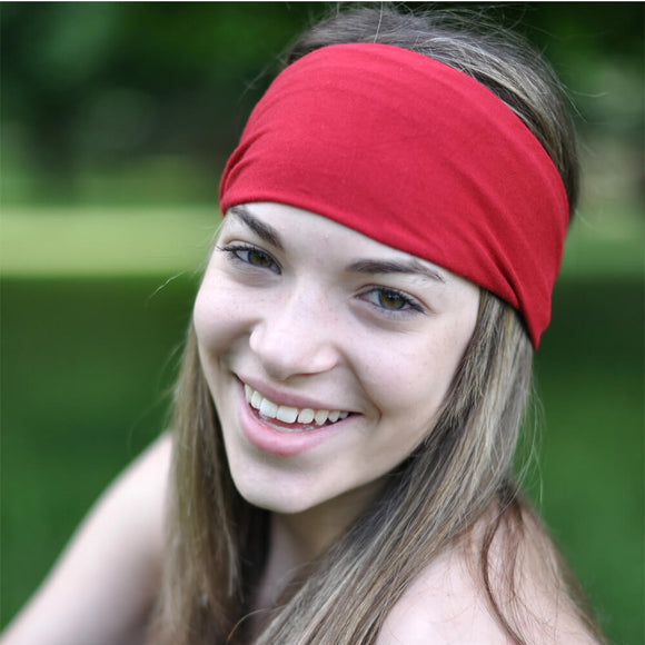 Red Sports Wrap Headband