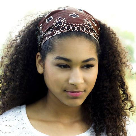Brown Bandana Headscarf