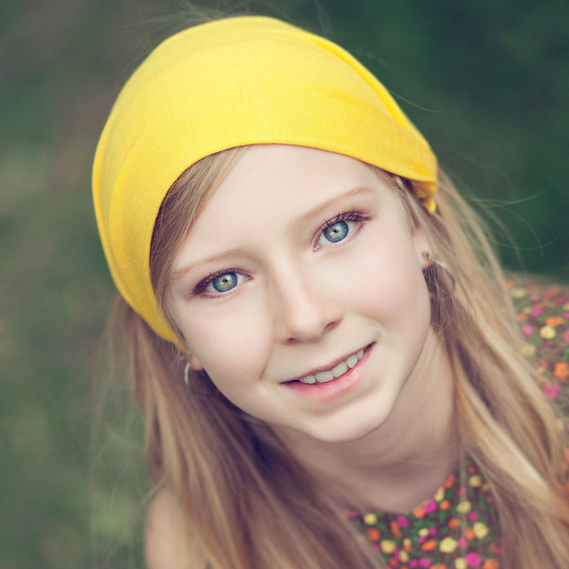Yellow Headband, Knit
