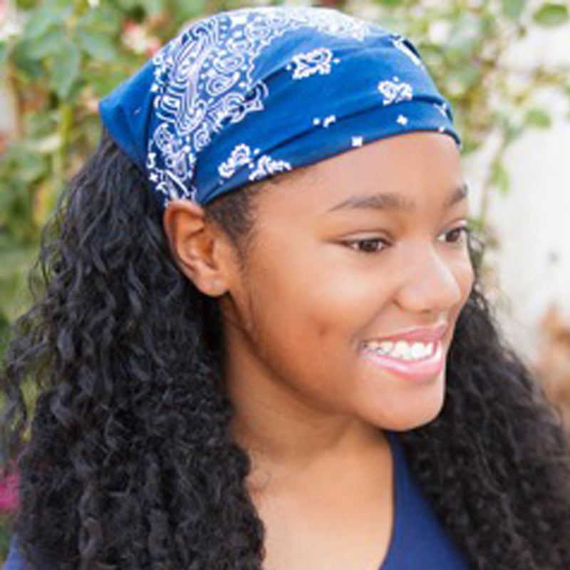 Navy Blue Bandana Kerchief Headband