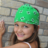 Kelly Green Bandanna Headwrap