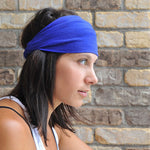 Royal Blue Headband, Knit