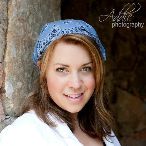Denim Blue Bandana Headscarf