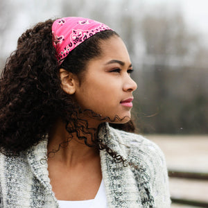 Hot pink Bandana Headband